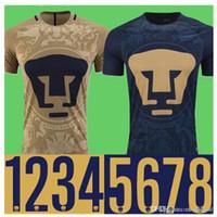 bayer thailand - Thailand Quality Mexico club Pumas UNAM Home Gold Away blue soccer jerseys camisetas de futbol Cougar Pumas UNAM football Shirts