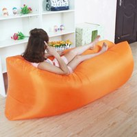 Wholesale Outdoor Inflatable Lounger Nylon Fabric Beach Lounger Convenient Compression Air Bag Hangout Bean Bag Portable Dream Chair