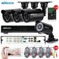 Wholesale KKMOON CH Full H D1 DVR TVL Outdoor Security Camera System HDMI P2P Onvif CCTV DVR Video Recorder TB HDD IR Camera