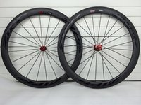 Wholesale 700C mm width mm road carbon bike wheels clincher tubular mm width glossy black decals bicycle wheelset