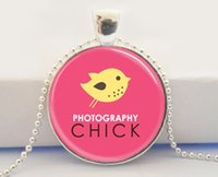 american photographer - Photography Chick Camera Jewelry For Photographers Pink and Yellow Art Glass Dome Pendant Necklace