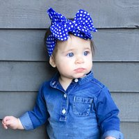 accesories for babies - Fashion Toddler Hair Accessories Fashion Dots Design Lovely Kids Headband Bowknot Baby bowknot Accesories For Headbands