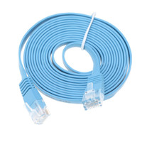 Wholesale 2M High Quality Blue High Speed Cat6 Ethernet Noolde Flat Cable Ultra Thin Design RJ45 Computer LAN Internet Network Cord