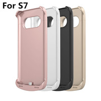 Wholesale mAh For samsung galaxy S7 Rechargeable External Backup Battery Case Power Case External Power Bank Charger Case