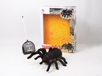 Wholesale Channel Remote Control Spider Eyes Shine Halloween Simulation Spider RC Tricky Scary Toy Prank Gift Model