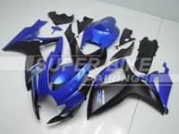 Wholesale New Fitment motorcycle ABS Fairing Kit Fit For Suzuki GSXR600 GSXR750 R600 R750 K6 Cool black and blue