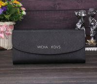 american standard logo - Famous Brand Logo M MICHA KOVS Wallet Women Bags Genuine Leather Bags Fashion Women Purse Clutch designer wallet hand bags box