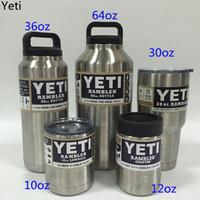 Wholesale 10oz oz oz oz oz YETI Rambler Colster Vacuum Insulated Tumbler Yeti Mugs Insulated Stainless Steel yeti Car Beer Cup UPS