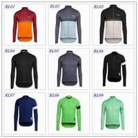 Wholesale Rapha Cycling Jerseys Long Sleeve Winter Thermal Fleece Cycling Tops High Elastic Spandex Men cycling Clothes Styles XS XL For Choice