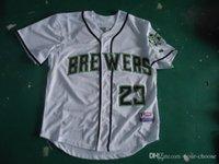 milwaukee - Milwaukee Brewers Hart Braun Greinke WEEKS Fielder Mens Baseball Jerseys White MLB Athletic Shirts Cool Base Football Jersey