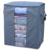 bedding set fabric - 50pcs Bamboo Charcoal Clothing Storage Box Quilt Storage Case Bedding Organizer Non wooven bag SN003