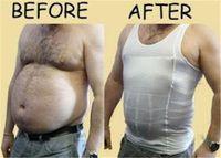 beer vests - Slim Lift Underwear Vest Men s Slim Body Shaper slimming vest Gymwear waist abdomen underwear Less beer belly