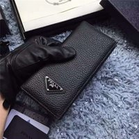 best new business - 1 quality new best Christmas present Classic lattice folding wallet men and women Universal long letter pattern wallet