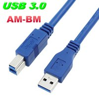 Wholesale New USB Printer Cables Printer Data Line USB3 Male to USB3 Square Opening Male Printer Line M M