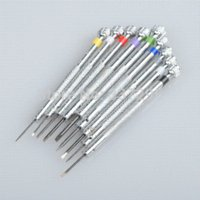 Wholesale 9 Precision Watch Flat Blade Slotted Watch Screwdriver Set Tools tool crown tool driver