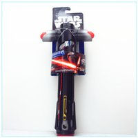 Wholesale Star Wars hasbro Cosplay Lightsaber Darth Vader Anakin Skywalker Obi Wan Light sword Weapons PVC Action Figure Toys Christmas Gift for Kids