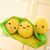 Wholesale 1pcs quot cm Kids Baby Plush Toys For Children Cute Pea Stuffed Plant Doll Girlfriend Kawaii Gift High Quality Toy