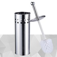 bath brush set - Hot Sales Stainless Steel Toilet Bowl Brush Detachable Head with Holder Set Household Bath Cleaning Tool JG0053