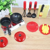 Wholesale Creative Set Mini Kitchen Cookware Pot Pan Kids Pretend Cook Play Toy Utensils Mess Kit Supertop A00114 OSTH