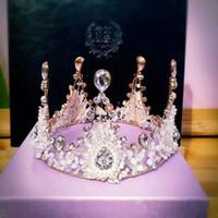 gold tiara - Crown Vingte queen s crown wedding crown Rhineston Crystal Crown tiaras shinny Accessories for wedding event Wear