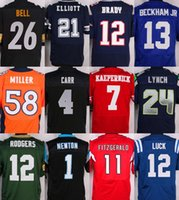 bell numbers - Customized XL football jerseys BELL ELLIOTT BRADY BECKHAM JR CARR MILLER RODGERS KAEPERNICK any name any number
