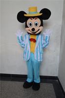 Color directo de la fábrica del traje de la mascota de Mickey Mouse traje adulto del traje COS traje de Víspera de Todos los Santos historieta de la fiesta de Navidad adulto tamaño privado