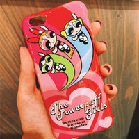 animation covers - The Powerpuff Girls Phone case Cartoon Animation Soft TPU Silicone Back Case Cover For apple iphone S plus
