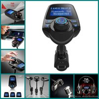 Wholesale T10 Car MP3 Audio Player Bluetooth FM Transmitter Wireless FM Modulator Car Kit HandsFree LCD Display USB Charger for Mobile VS G7 T66