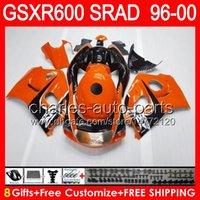 brillant 8gifts orange pour SUZUKI GSXR 600 96 97 98 99 00 GSX-R600 58NO10 GSXR-600 96-00 SRAD GSXR600 1996 1997 1998 1999 2000 Carénage noir