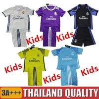 Wholesale Wholesales Camisa Madrid kids Jersey Youth Jerseys Football Messi Kits Camisetas De Futbol Chandal Real Uniforms sets Children Ronaldo