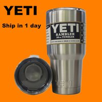 Wholesale Yeti oz oz Cups Cooler YETI Rambler Tumbler Travel Vehicle Beer Mug Double Wall Bilayer Vacuum Insulated Stainless Steel