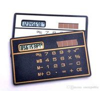 Wholesale 500pc Hot Sale Direct Selling Informatica School Calculator Calculadoras F098 Slim Card Calculator Solar Z00364