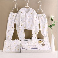 baby newborn set manufacturers - 7Pcs set Baby sets Explosion models special soft combed cotton baby gift newborn clothes clothing manufacturers