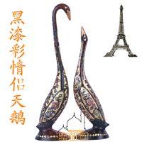 Wholesale Pakistan bronze animal handmade art decoration import of copper copper Swan pair