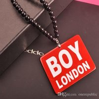 Wholesale 50pc Luxury Brand Good Wood Men Pendant Long Chain Necklace Hip Hop Boy London Pendants Necklaces Women Costume Jewelry Z00458