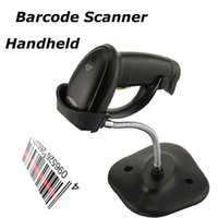 Wholesale High Scaned Speed Portable Losar Barcode Scanner Reader Gun with USB Cable and holder for Supermarket and POS System