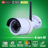 Wholesale Onvif H MegaPixel P x1080 Network Wifi Wireless IP Camera Outdoor Mini Bullet Security Camera