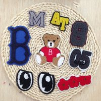 iron on patches for kids - 10pcs Cartoon Letter Iron On Sew on Cloth Patches Embroidered Patch Applique Decorative Accessories for Kids Children