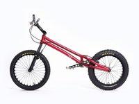 aluminum titanium carbon - ECHOBIKE GU PRO quot Bike trial bike Carbon Fibre Fork Titanium Alloy Parts Jump Bike KOXX Rockman MONTY Hashtagg Red Trial Bike