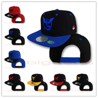 Wholesale Baseball Caps Poke Mon Go Caps Pocket Hats Casual Poke Mon Pikachu Adjustable Casual Hats Hip Hop Dance Street Different Color