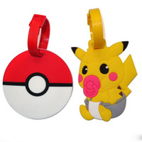 adress label - New Poke Go Pikachu Luggage ID Tags Labels Travel Boarding Adress ID Card Case Bag Collectibles Keychain Key Rings Toys Gifts