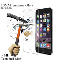 Wholesale 0 mm D UltraTempered Glass for iPhone s Tempered Glass Screen Protector Film for iPhone S s s plus