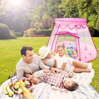 Wholesale Portable Folding Children Hexagonal Princess Play Tent Ball Pit Indoor Outdoor Kids Castle Cubby Play House