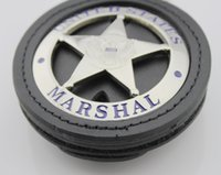 Wholesale Replica police metal united States marshal with suitable holder color sliver gold insignia badges and patches collection