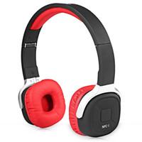 Wholesale New Bee NB Wireless Bluetooth Stereo Headphones NFC Running Pedometer APP Music Headset mm Audio Earphone Handfree with Mic