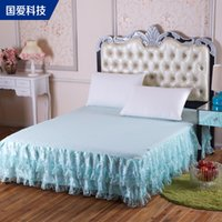 Wholesale Our love technology Lace Bed Skirt European Princess Palace bedspread single Simmons mattress fitted