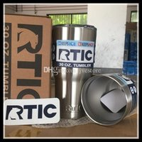 Wholesale DHL Rambler Tumbler oz RTIC Cups Cars Beer Mug Large Capacity Mug Tumblerful With Vacuum Double Wall Keep Cool or Hot