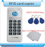 Wholesale Upgrade Khz MHZ frequecny RFID Duplicator Copier Writer KHZ cards MHZ IC UID card