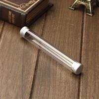 al por mayor nueva caja de diseño de la pluma-Al por mayor-Nuevo diseño de la pluma caja de regalo transparente para los efectos de escritorio de cristal de la pluma del bolígrafo de la pluma de la caja de lápiz del paquete Promoción