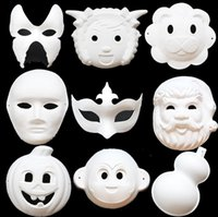 Wholesale Children DIY mask halloween christmas kids handmade gifts Blank White Masquerade Mask animal men Venetian Cosplay Costume mask child toys